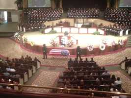 A funeral service was held Thursday morning for Stockton police Officer Scott Hewell,  who died after succumbing to injuries suffered in a crash while on-duty. (June 19, 2014)