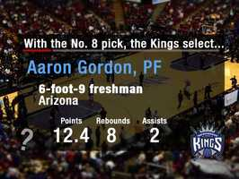 Aaron GordonThe Kings are looking for the third cog in their front line that already includes DeMarcus Cousins and Rudy Gay. Gordon is considered a top-rate athlete who rebounds, defends and flies around the rim.