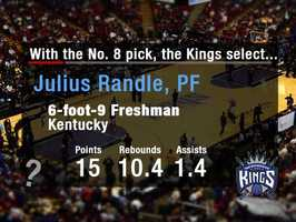 Julius RandleRandle could be a sweet pairing to go alongside fellow Kentucky alumnus DeMacus Cousins. Randle is considered a top rebounder in his class, and has an improving offensive game.