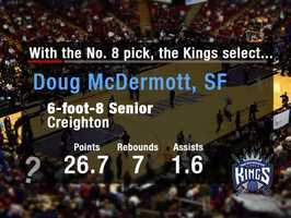 Doug McDermottSenior. 25-plus points per game. Can shoot. Sound familiar? No, it's not the summer of Jimmer Fredette all over again. This time around, the Kings could go with a proven shooter with size. McDermott is a specialty outside shooter, uncommon for his size. The shooting would be a welcome addition to a team that shot near the bottom from behind the arc last season.