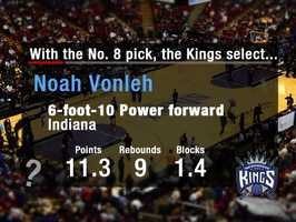 Noah VonlehVonleh might be raw in some areas, but is solid around the basket and loves to rebound -- and has a 7-foot-3 wingspan.