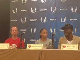 Allyson Felix, Will Claye and Aaron Braun are all competing in the USATF Championships (June 25, 2014).