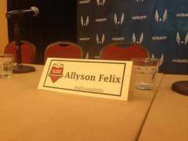 Sprinter Allyson Felix is among the bigger names in Sacramento (June 25, 2014).