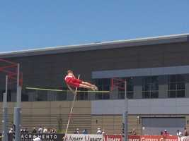 The men's junior pole vaulting at the U.S. Outdoor Track and Field Championships. (June 26, 2014)