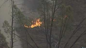 A large wildfire has charred thousands of acres in a rural area of Napa County. (July 2).