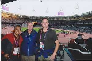 15.) I have had the honor of covering three Olympics during my career, two of them with these guys. Mike Rhinehart (in the middle) and I have had some epic adventures together. Thanks, buddy!