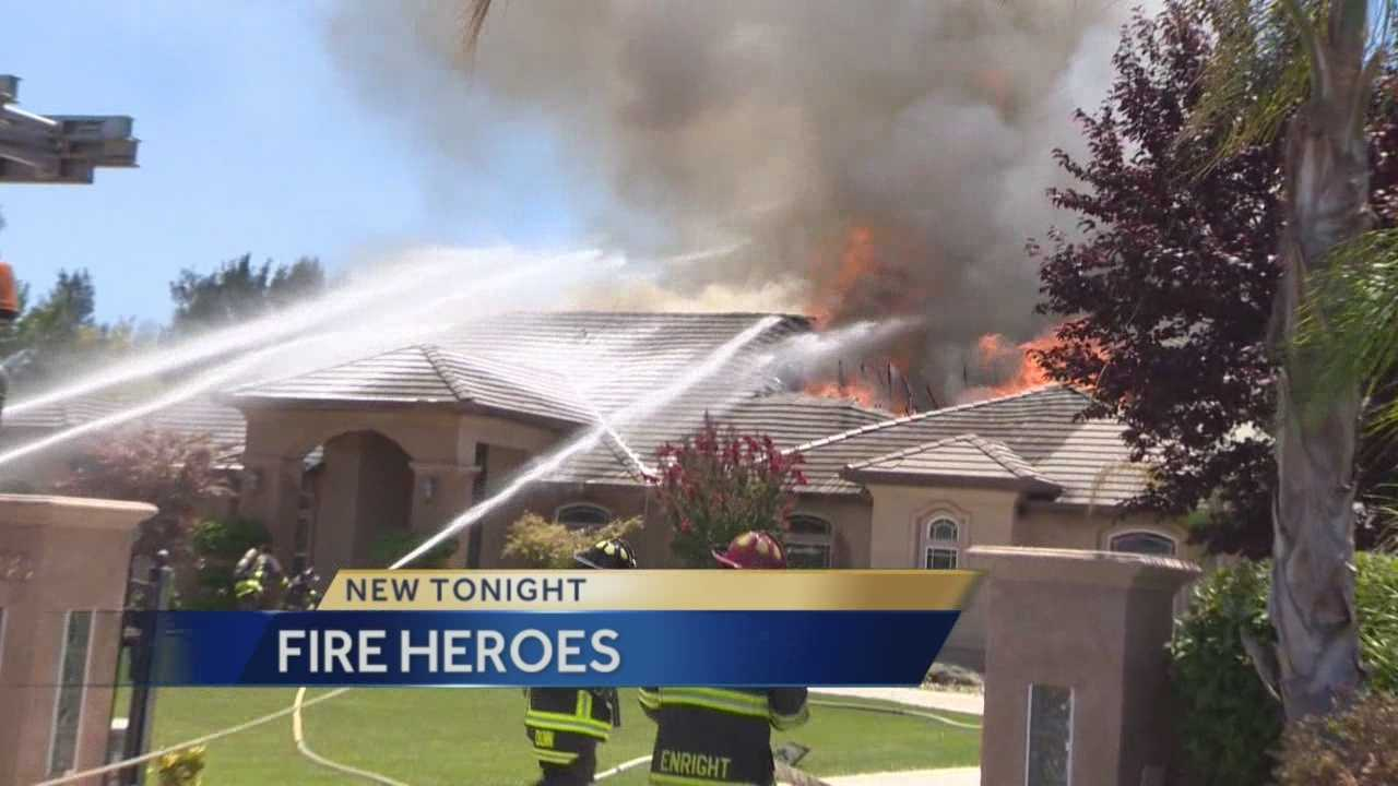 A Morada man is being called a hero after running into a burning house and saving a 14 year old girl.
