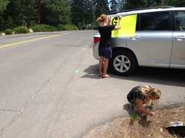 Big, summer crowds, coupled with construction along Highway 89, has created especially long traffic delays leading north into Tahoe City.