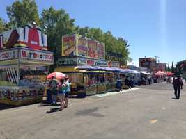 Funnel cakes, Hot Dog on a Stick, curly fries, seafood, Mexican food and charbroiled treats are all located on this strip of food vendors. See what other foods are available at this year's California State Fair.