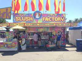 As temperatures get warmer, fair-goers might want to cool off with one of the these drinks at the Slush Factory. They have 10 different flavors -- and you are welcome to mix them.