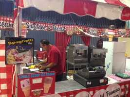 The spaghetti ice cream was a huge hit last year and it's back at the fair.