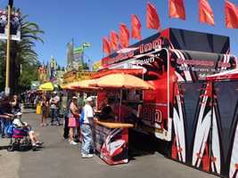 Sacramento's own Squeeze Inn, known for its cheese skirt burgers, has a booth at the state fair.