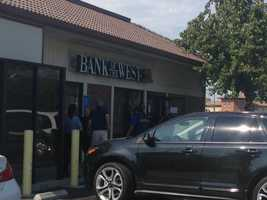 The Bank of the West on Thornton Road in Stockton robbed Wednesday before a high-speed chase. (July 16, 2014)