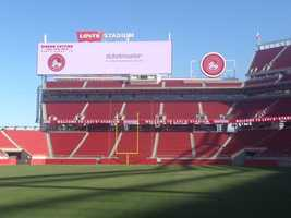 A ribbon cutting ceremony was held on Thursday at Levi's Stadium to officially open the new park for the 2014 San Francisco 49ers season. (July 17, 2014)
