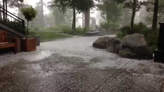 A KCRA u local member sent in this video of a hail storm at Squaw Valley Resort.
