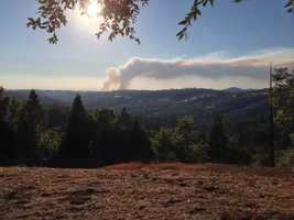 KCRA u local members sent in photos of Friday's grass fire burning in Amador and El Dorado counties. (July 25, 2014)
