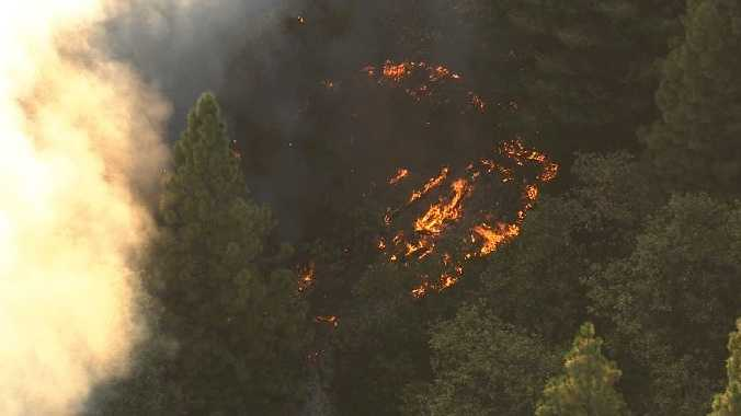 Firefighters are responding to a fire in the Foresthill area.