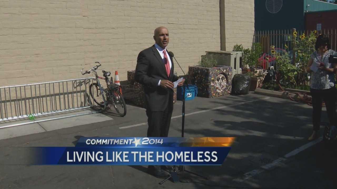Candidate Kashkari spends a week living as a homeless person