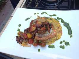 Chef Casey from Mulvaney's B&L cooked up a salmon dish Saturday on the KCRA 3 Patio in preparation for the start of California King Salmon Week . The week's festivities include a chef competition featuring some of the top restaurants from around the region.
