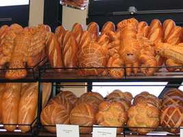 2) Sourdough Bread -- The sourdough bread gets its taste from yeasts that are native to California. Boudin's has been making the bread since the Gold Rush days.