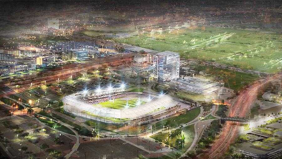 This rendering, which was commissioned by Elk Grove Mayor Gary Davis, shows what a soccer stadium in Elk Grove might look like. (Aug. 7, 2014)