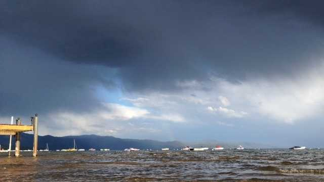 Lake Tahoe after the storm Monday (Aug. 11, 2014)