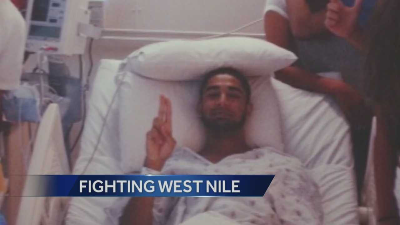 A college student was infected with the West Nile Virus when he was bit by a mosquito near the San Joaquin River.