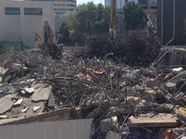 Turner Construction hopes also to recycle nearly all of the concrete, asphalt and green waste created by the demolition of Downtown Plaza. The waste management companies that receive the materials will tell Turner how much of the material they were able to recycle. The company's corporate goal is to recycle 75 percent of materials across all its construction projects.