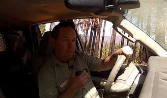 Chris Schow is the fire chief for the Stanislaus National Forest and was on duty during the fire's nine weeks of active burning.