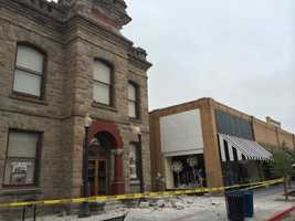 Damage on First Street in downtown Napa. (Aug. 24, 2014)