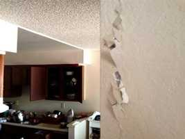 Cracks in walls at Charter Oaks Apartment have residents wondering if the building is safe. (Aug. 24, 2014)