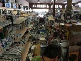 Plenty of damage can be seen inside Shakford's, the famous kitchen store in Napa. (Aug. 24, 2014)