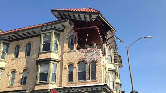 The Napa earthquake caused plenty of problems for many buildings in the area. (Aug. 25, 2014)