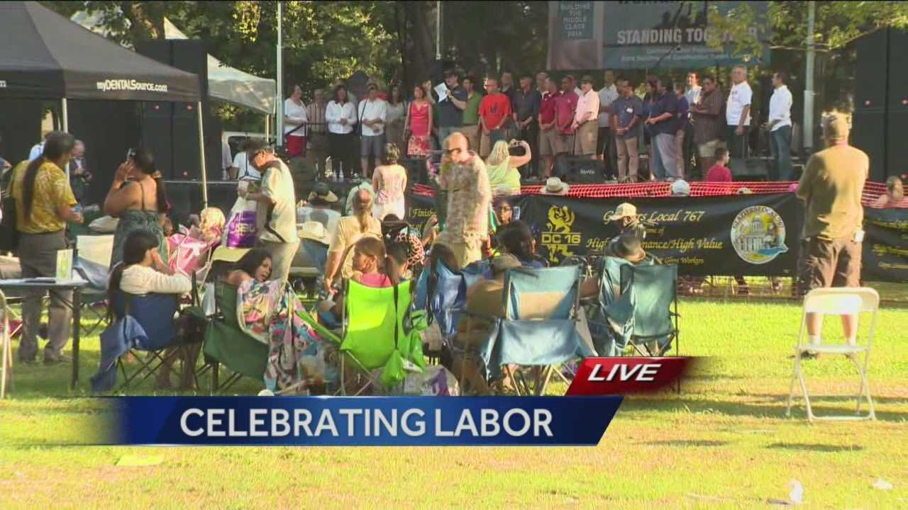 Local labor union members and their families came together at William Land Park to celebrate Labor Day.