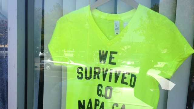 This t-shirt was on display Monday at a printing shop in downtown Napa.