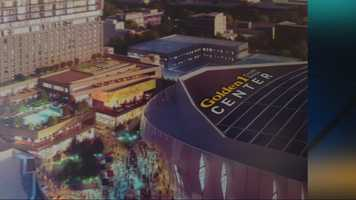 And the name is ...June 16, 2015 -- Mayor Johnson and the Sacramento Kings unveil the new name of the downtown arena -- The Golden 1 Center.