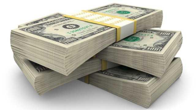 dollar bills, money