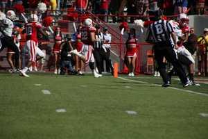 Rex Burkhead scores another touchdown in the first quarter.