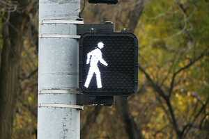 Now, pedestrians can walk across the street safely.