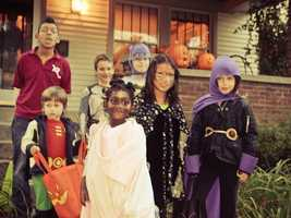 Talk to children about staying with their trick-or-treating group.