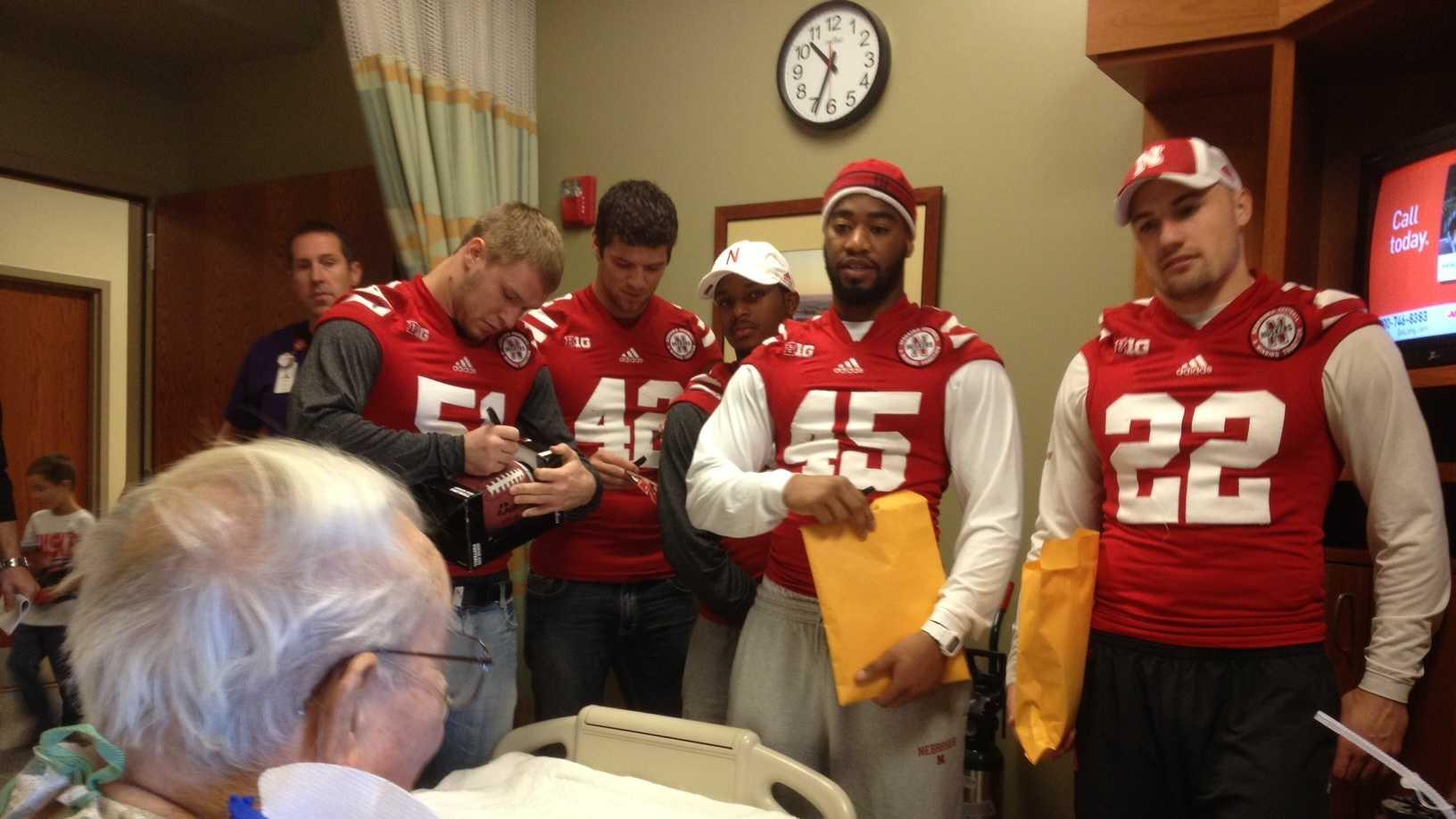 Photo- HUsker hospital visit