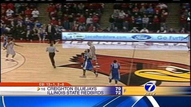 No. 16 Creighton beats Illinois State 79-72
