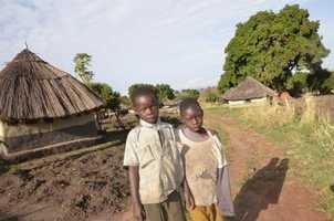 Kids in a nearby village