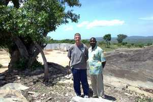 Drs. Chuck Tomek and Joseph Dumba at clinic site.