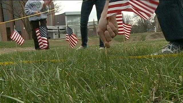 UNO raises flags to honor fallen troops
