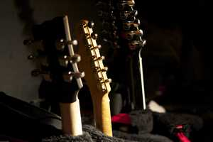 All the instruments are readied and double-checked before the show.