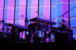 The hexagonal screen utilizes 4.5 million pixels of video projection.