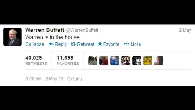 First tweets - Warren Buffett