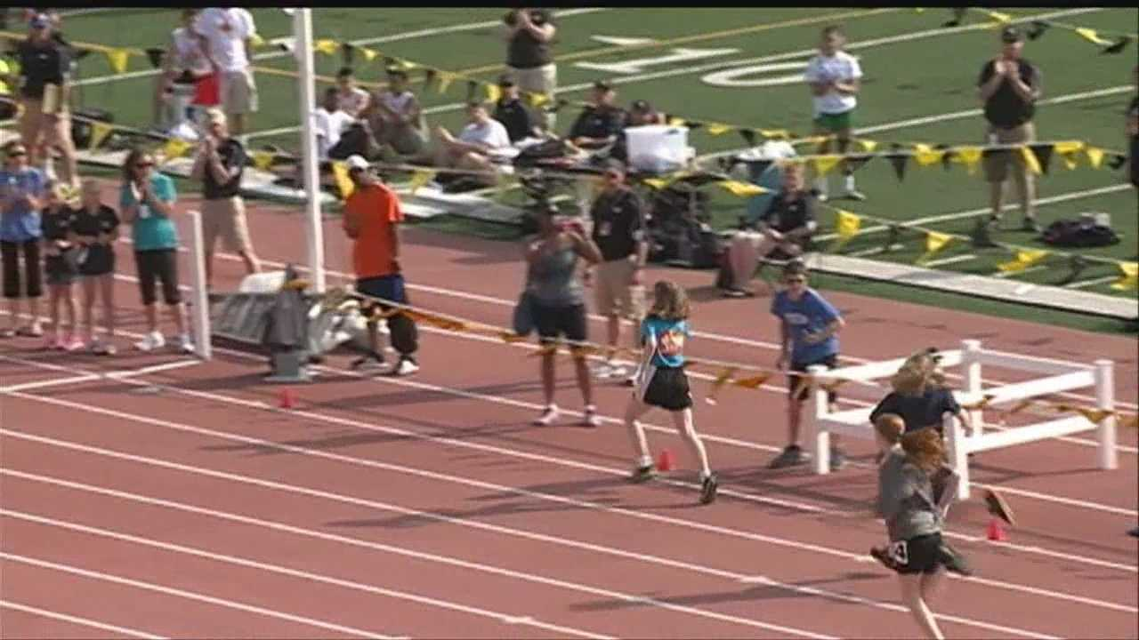 Special Olympians compete in track meet