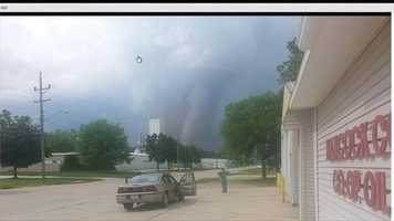 "Belmond, Iowa:  ""Right by my work place. I was so scared and still shaking!"" said Sally Lindeman."